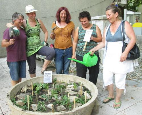 Le collectif buxois des « Incroyables Comestibles » compte aujourd'hui une douzaine de bénévoles très actifs.