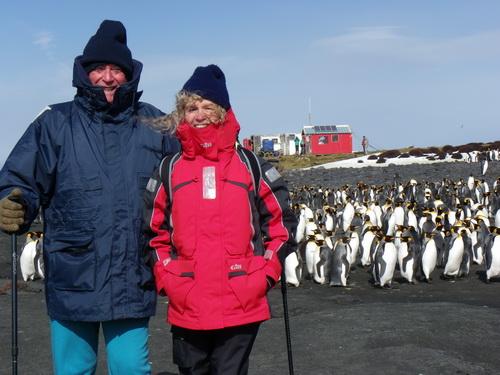 Olivier et Laurence Clary le 31 août 2014 sur la base de l'ile Crozet